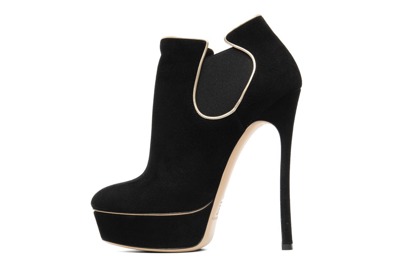 Bottines et boots Casadei Carlucci Noir vue face