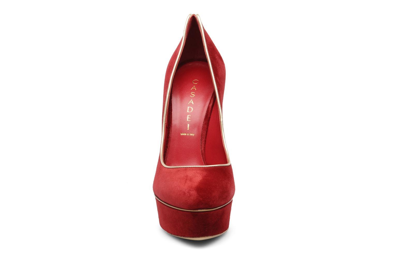 Escarpins Casadei Scaronne Rouge vue portées chaussures