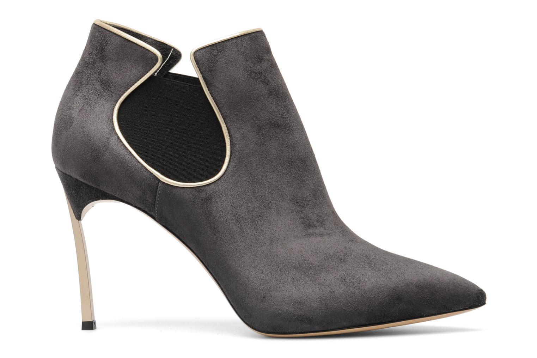 Boots en enkellaarsjes Casadei Mina Grijs achterkant