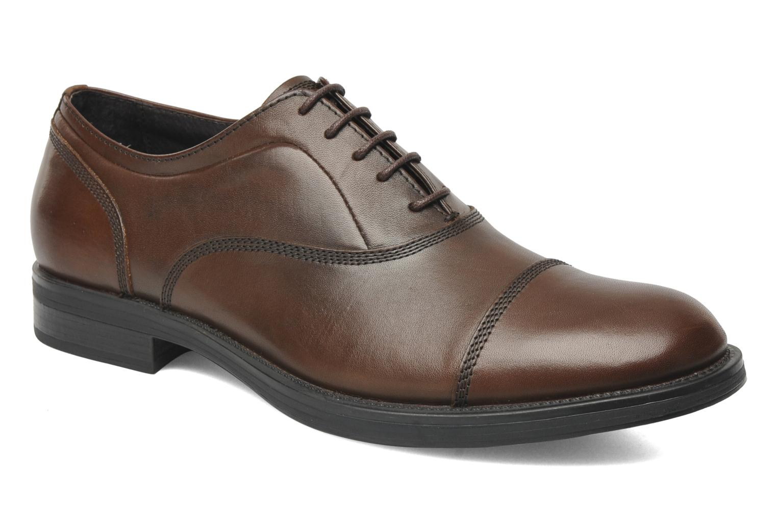 Lace-up shoes Stonefly Class 3 Calf Veg Brown detailed view/ Pair view
