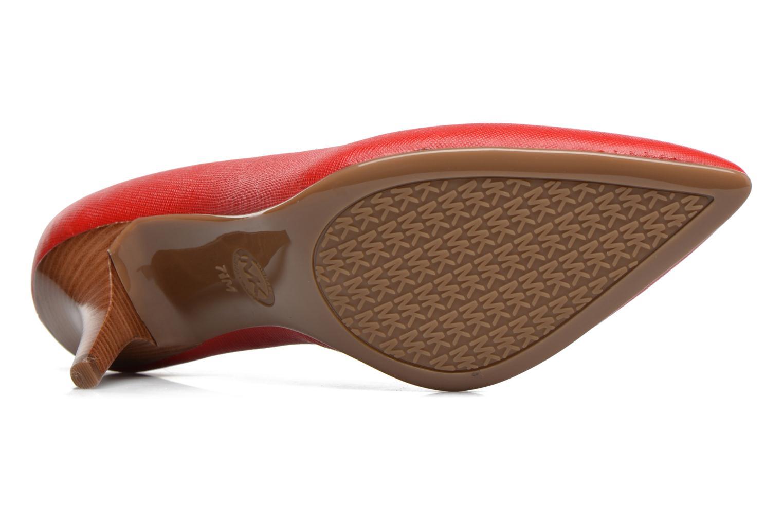 Zapatos de tacón Michael Michael Kors MK Flex Mid Pump W Rojo vista de arriba
