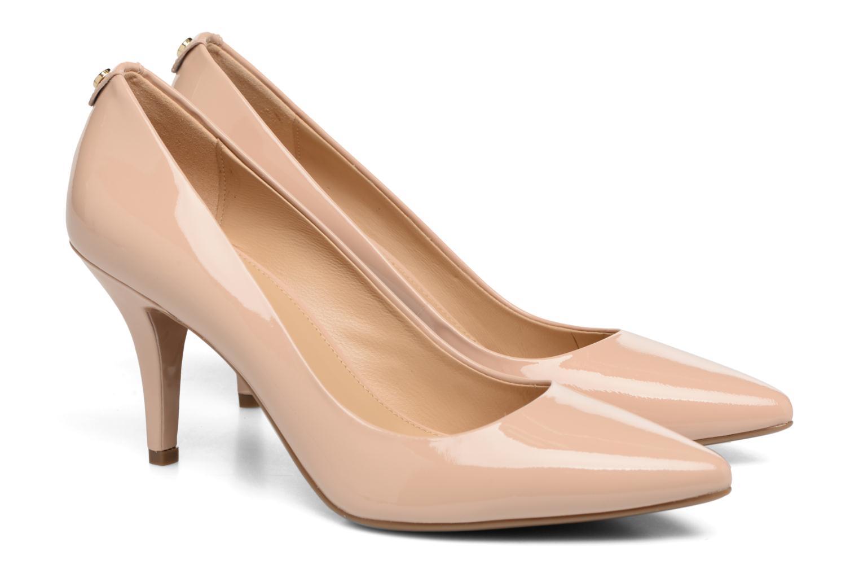 High heels Michael Michael Kors MK Flex Mid Pump W Beige 3/4 view
