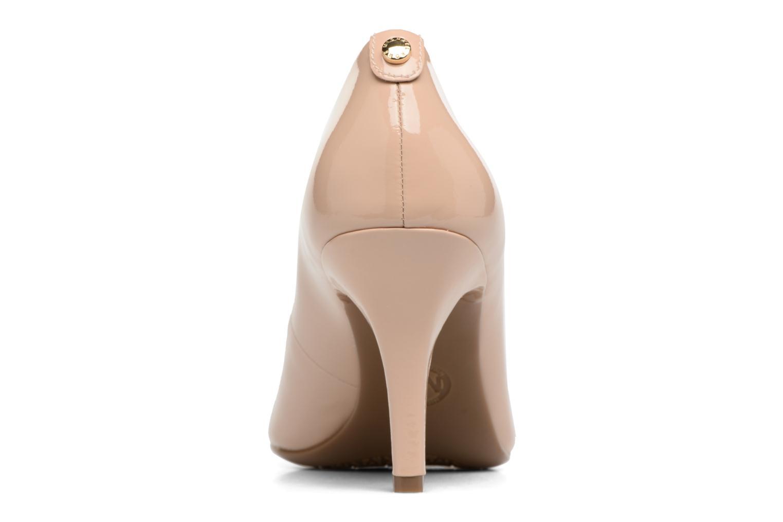 High heels Michael Michael Kors MK Flex Mid Pump W Beige view from the right