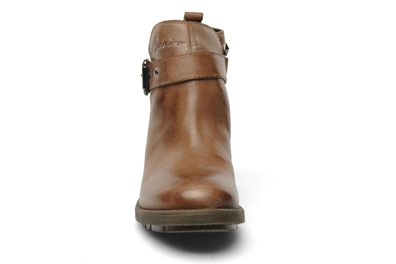 Ankle boots Redskins Gisor Brown model view
