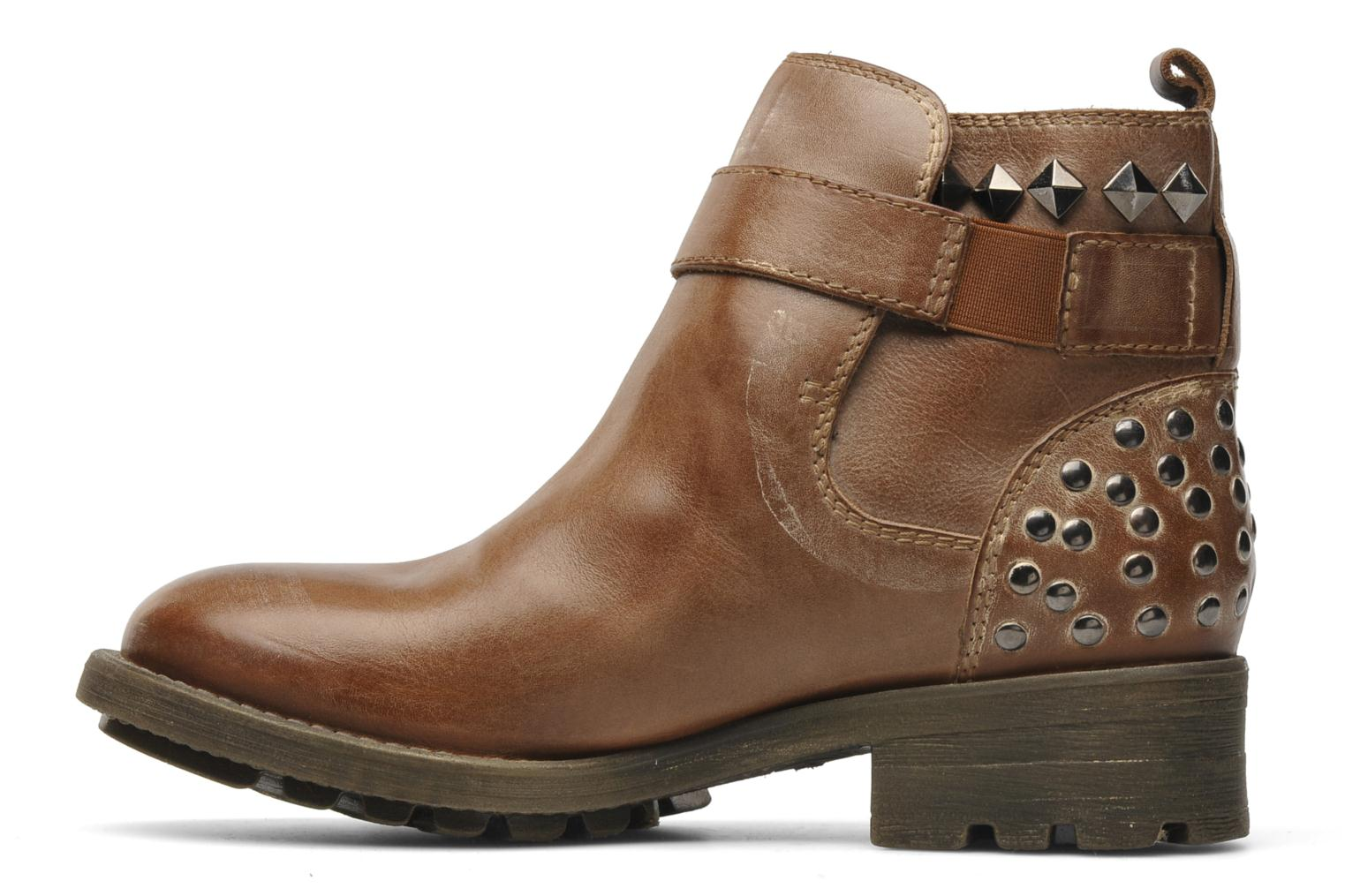 Ankle boots Redskins Gisor Brown front view
