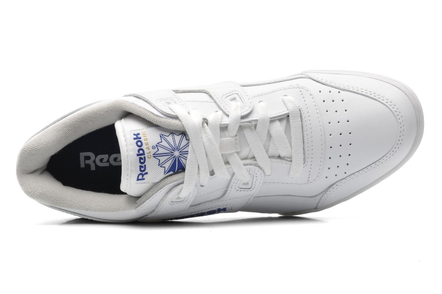 Trainers Reebok Workout Plus White view from the left