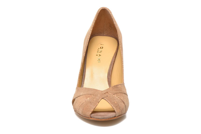 High heels Jonak Acide Bronze and Gold model view