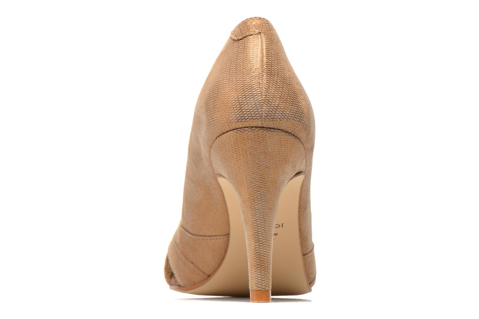 High heels Jonak Acide Bronze and Gold view from the right