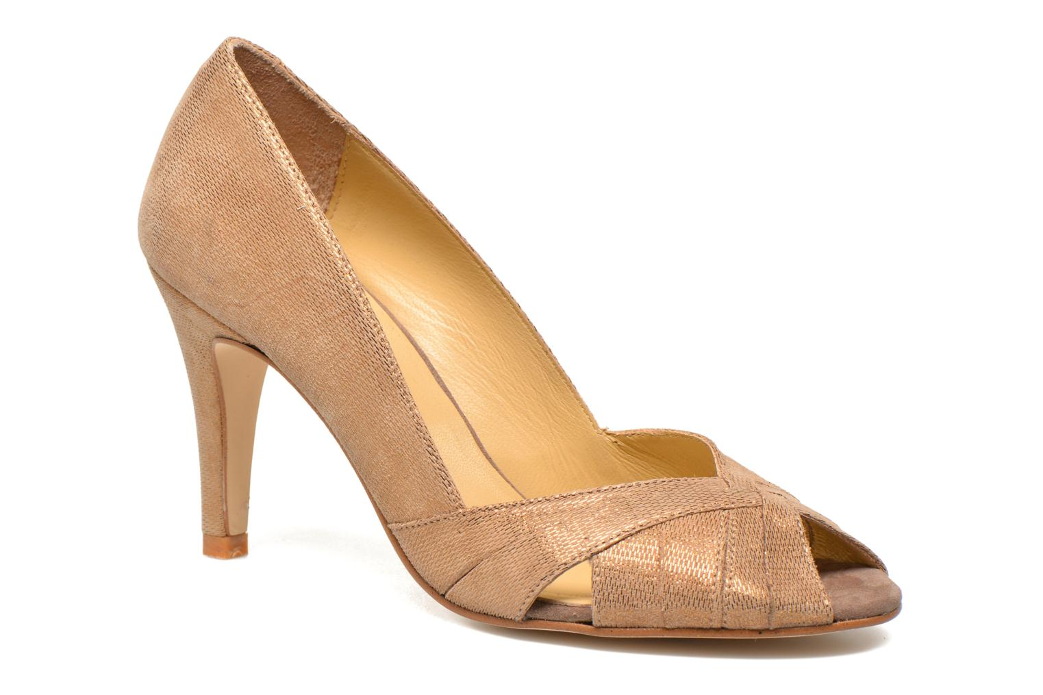 High heels Jonak Acide Bronze and Gold detailed view/ Pair view
