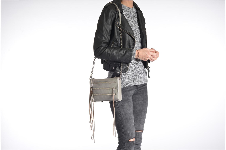 Mini 5 zip Clutch Genuine leather Zest
