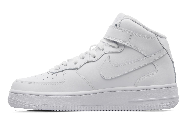 Baskets Nike Air Force 1 Mid (Gs) Blanc vue face