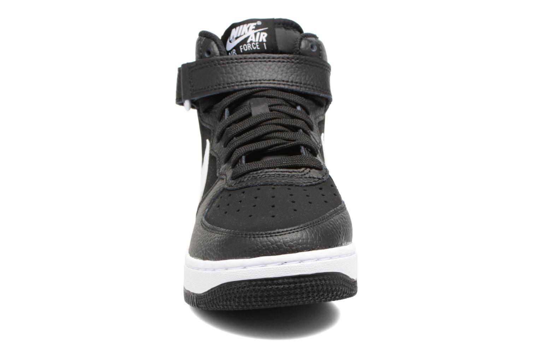 Baskets Nike Air Force 1 Mid (Gs) Noir vue portées chaussures