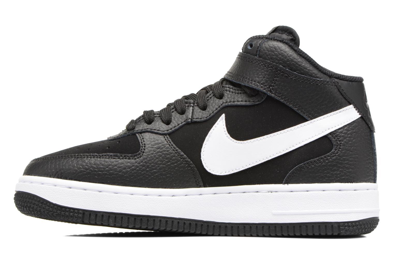 Baskets Nike Air Force 1 Mid (Gs) Noir vue face