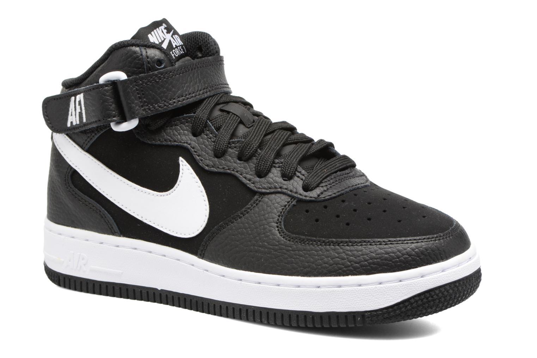 Baskets Nike Air Force 1 Mid (Gs) Noir vue détail/paire