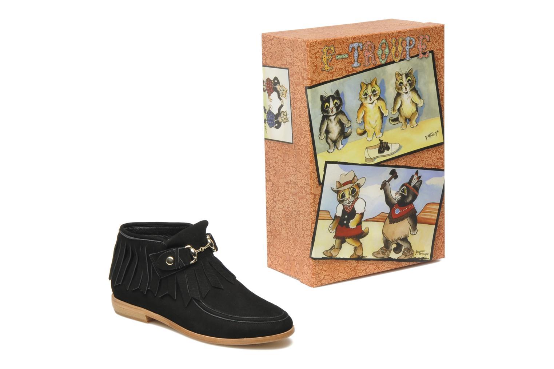 Bottines et boots F-Troupe Fringy Noir vue 3/4