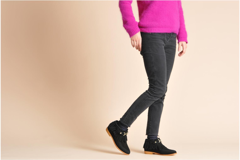 Bottines et boots F-Troupe Fringy Noir vue bas / vue portée sac