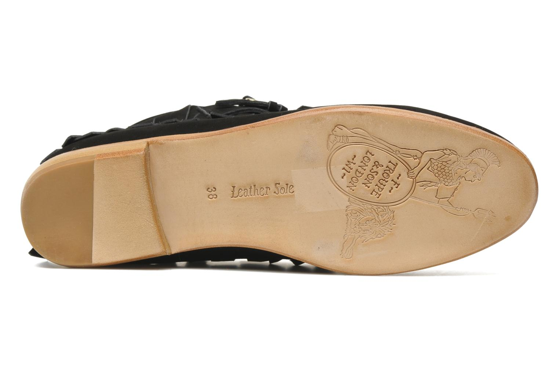 Bottines et boots F-Troupe Fringy Noir vue haut