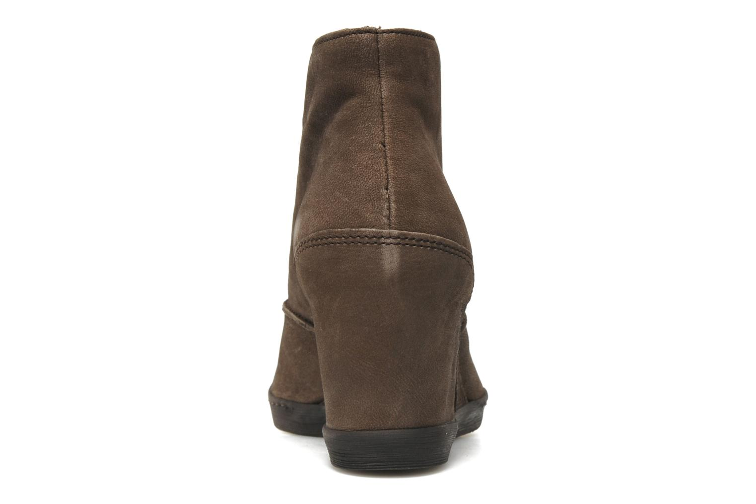 Ankle boots Khrio Capri Brown view from the right