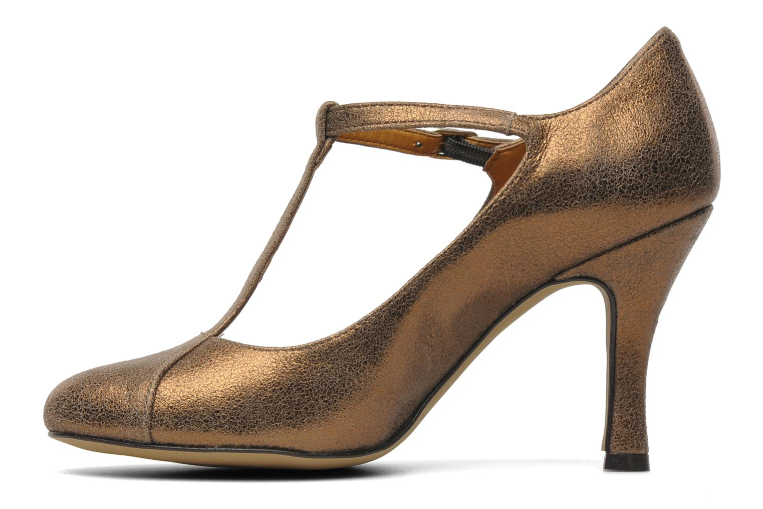 High heels Eden Atilla Bronze and Gold front view