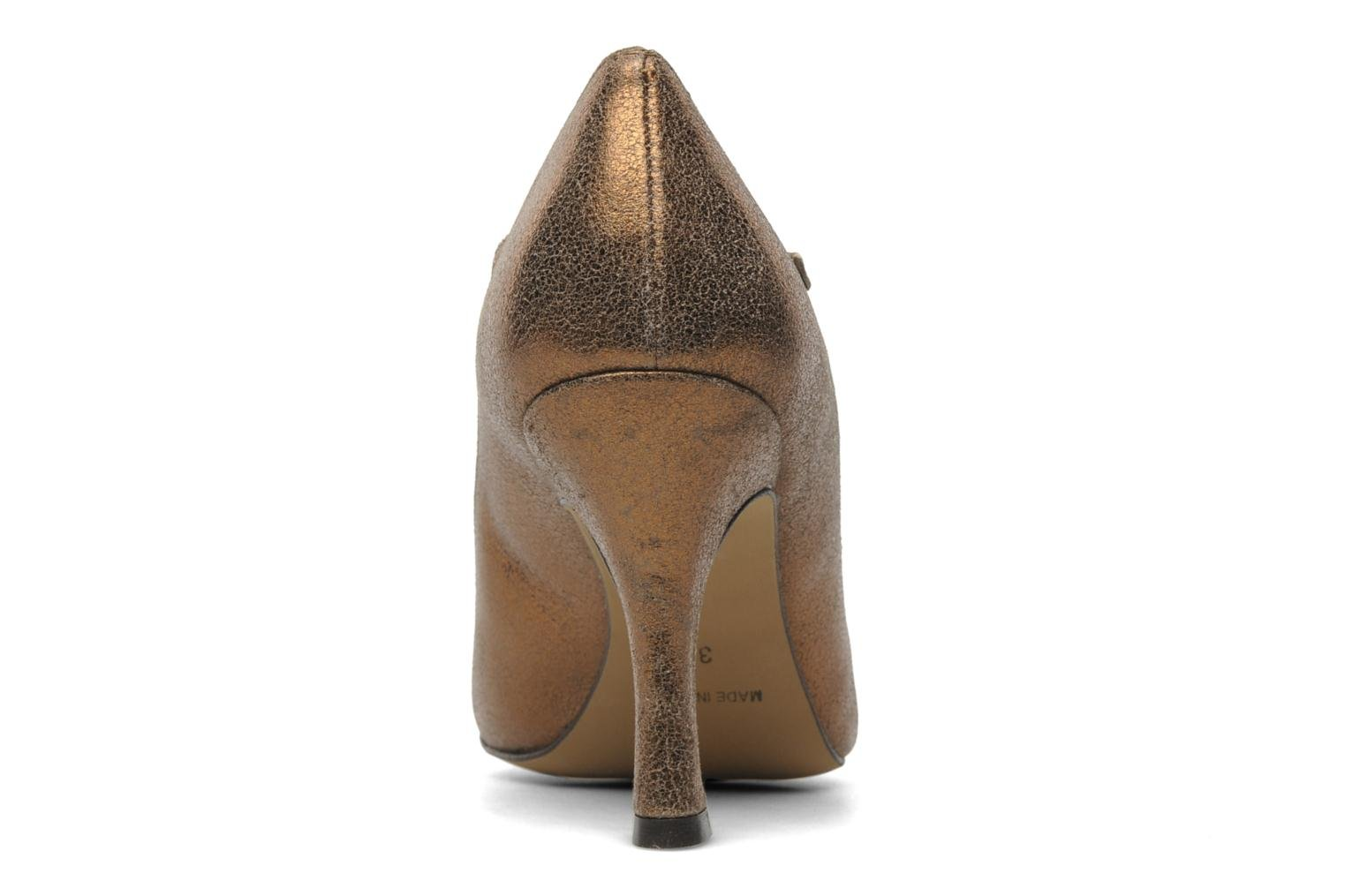 High heels Eden Atilla Bronze and Gold view from the right
