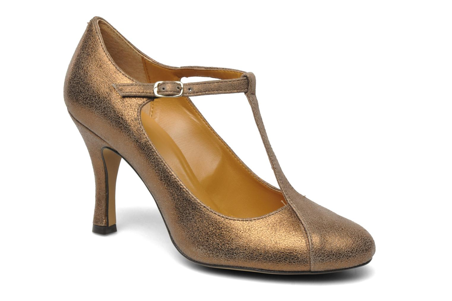 High heels Eden Atilla Bronze and Gold detailed view/ Pair view
