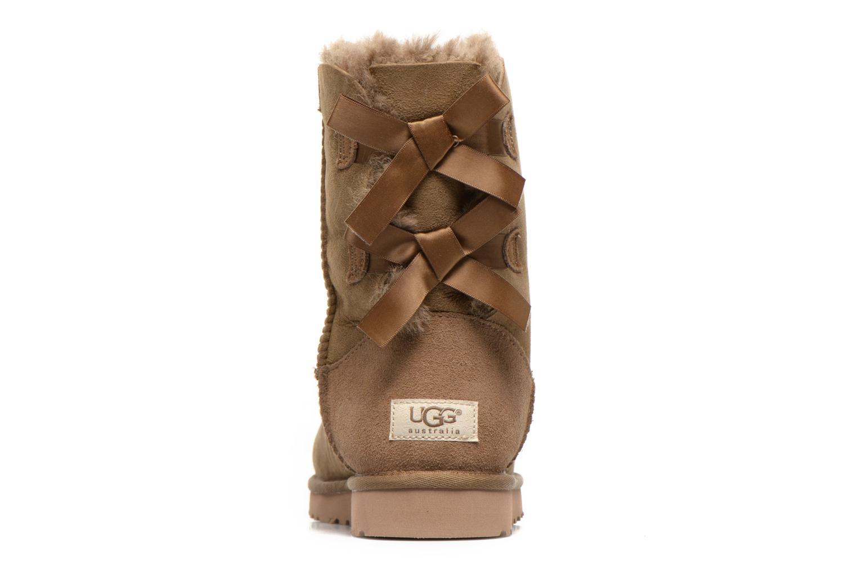 Bottines et boots UGG Bailey Bow W Marron vue droite