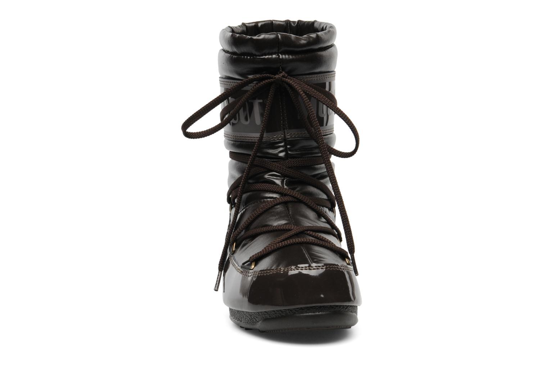 Stiefeletten & Boots Moon Boot Soft Mid braun schuhe getragen