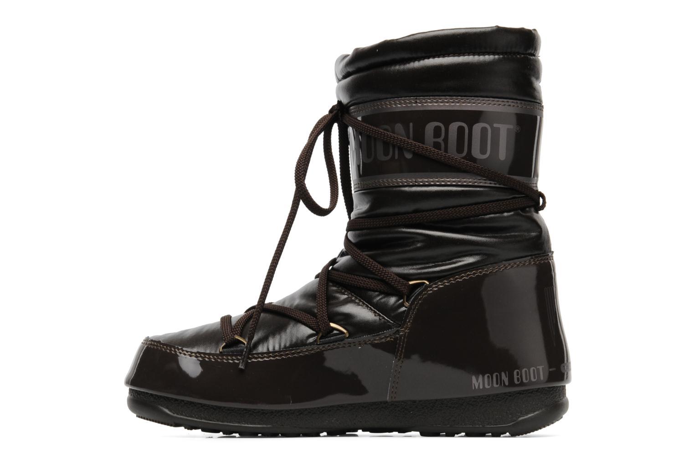 Bottines et boots Moon Boot Soft Mid Marron vue face