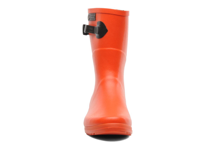 Bottines et boots Aigle Chanteboot Pop Orange vue portées chaussures