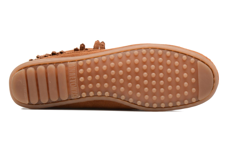 Stiefeletten & Boots Minnetonka Double Fringe side zip boot braun ansicht von oben