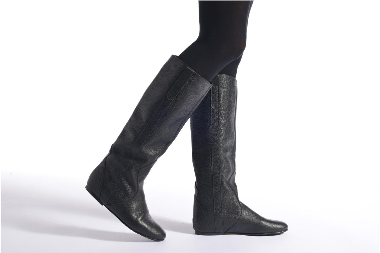 Stiefel Fabio Rusconi Isabella braun ansicht von unten / tasche getragen