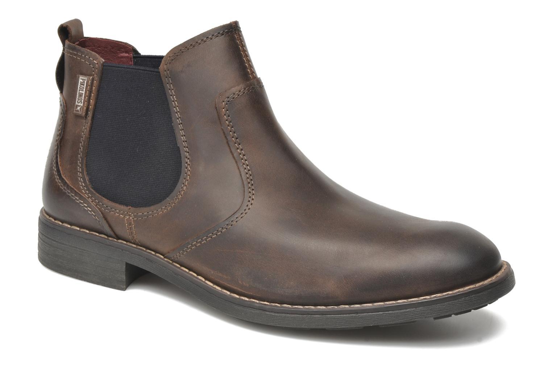 Boots en enkellaarsjes Pikolinos Pamplona 03Q-6466 Bruin detail