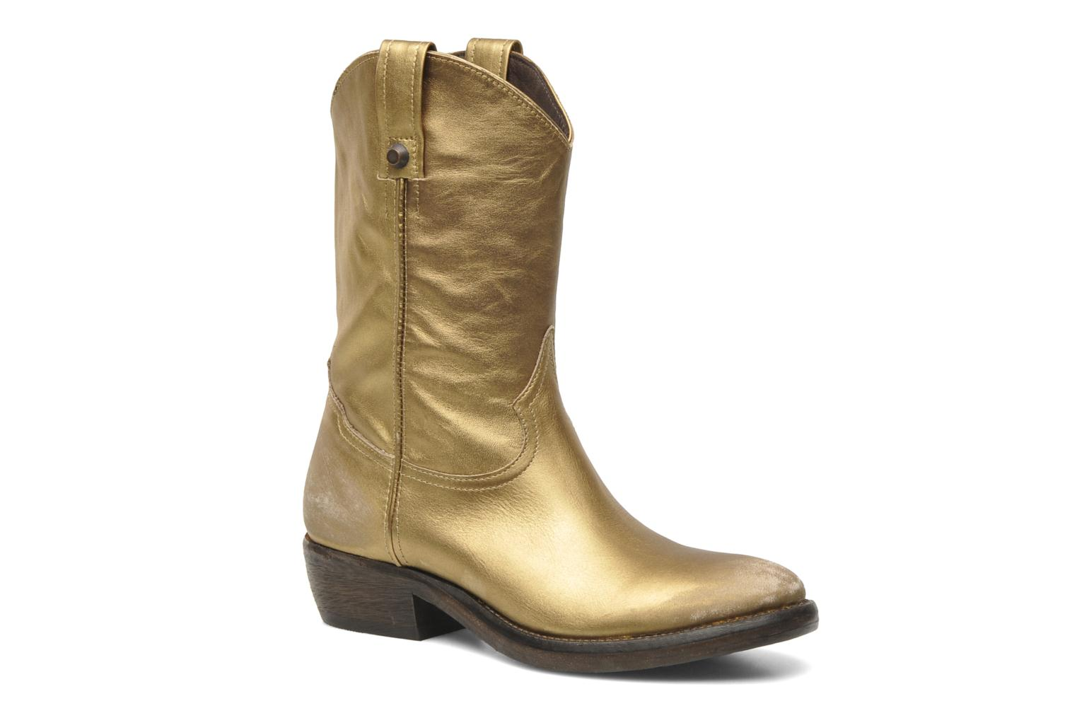 Ankle boots Catarina Martins Vendit LE2026L Bronze and Gold detailed view/ Pair view
