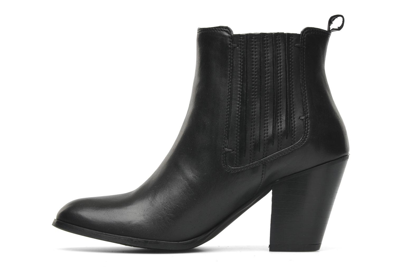 Boots en enkellaarsjes Addict-Initial Cache-cœur Zwart voorkant