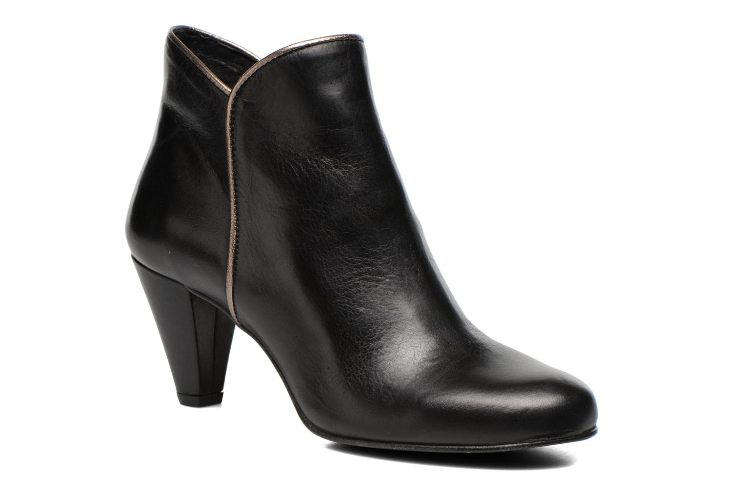 Ankle boots Georgia Rose Lagopède Black detailed view/ Pair view