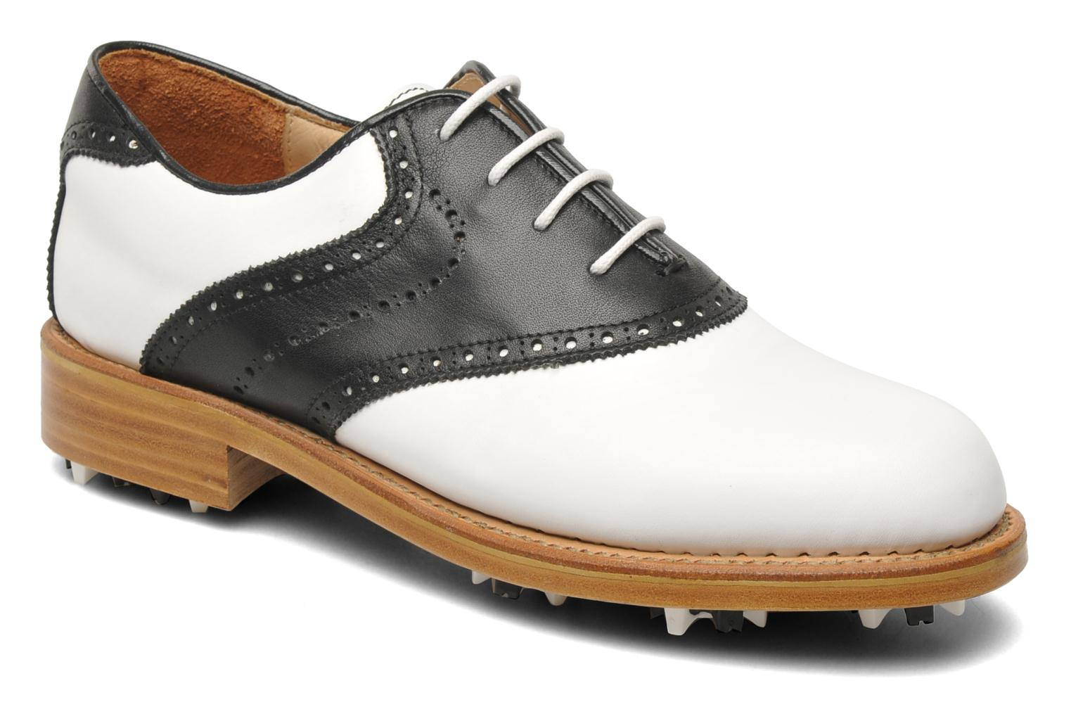 Sport shoes Georgia Rose Golfy Black detailed view/ Pair view
