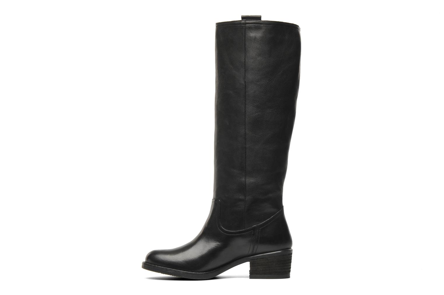 Boots & wellies Georgia Rose Caramel Black front view