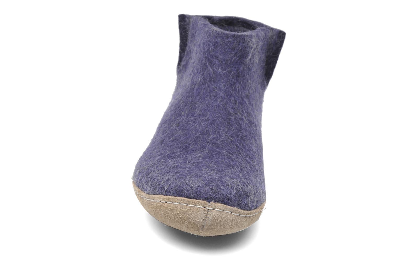 Chaussons Glerups Poras W Violet vue portées chaussures