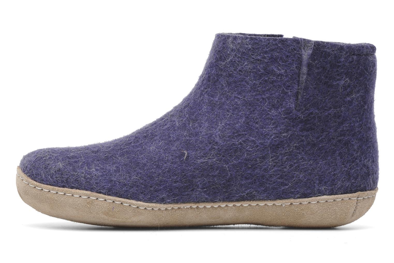 Slippers Glerups Poras W Purple front view