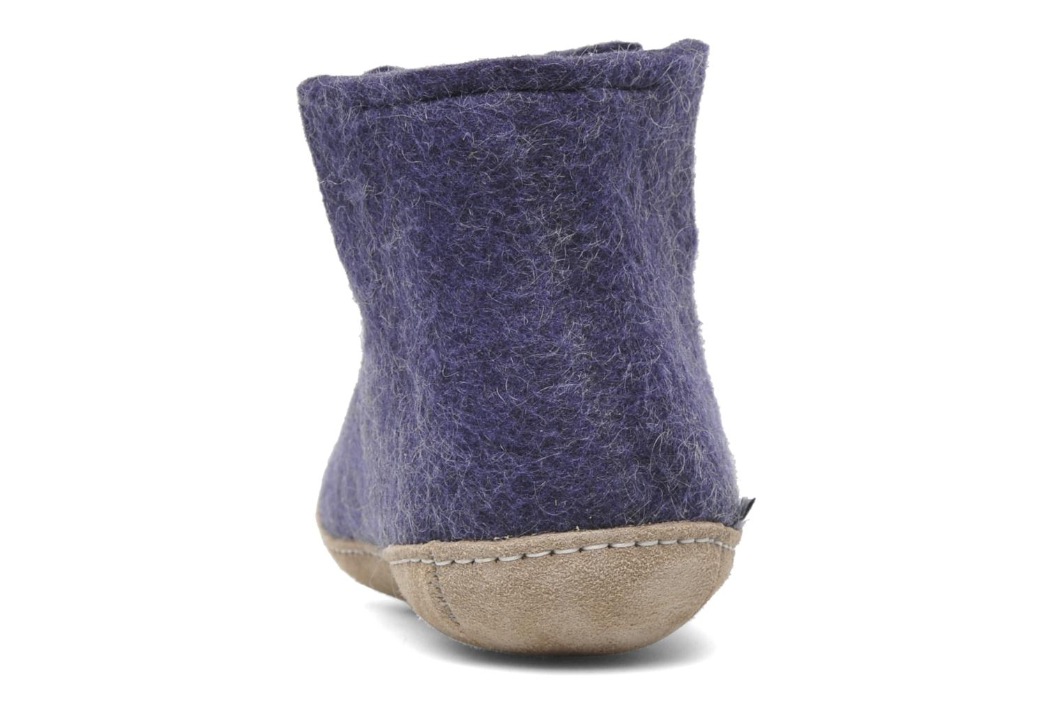 Slippers Glerups Poras W Purple view from the right