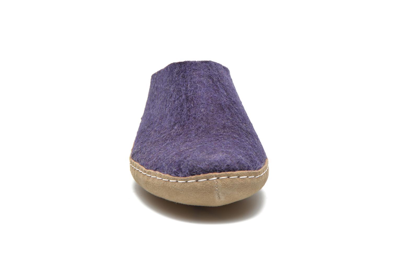 Hausschuhe Glerups Piras W lila schuhe getragen