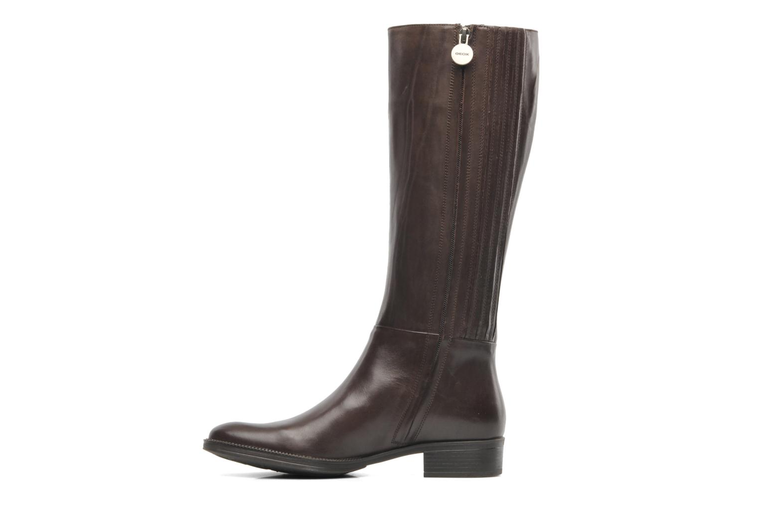 Boots & wellies Geox D MENDI ST P D3490P Brown front view