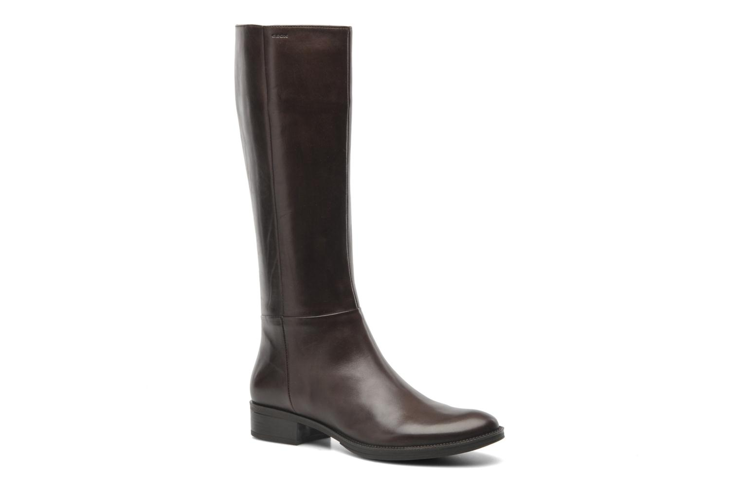 Boots & wellies Geox D MENDI ST P D3490P Brown detailed view/ Pair view