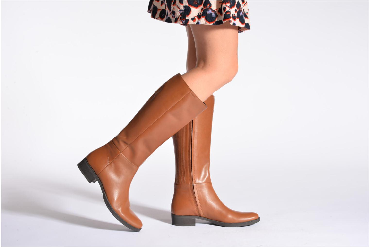 Boots & wellies Geox D MENDI ST P D3490P Brown view from underneath / model view