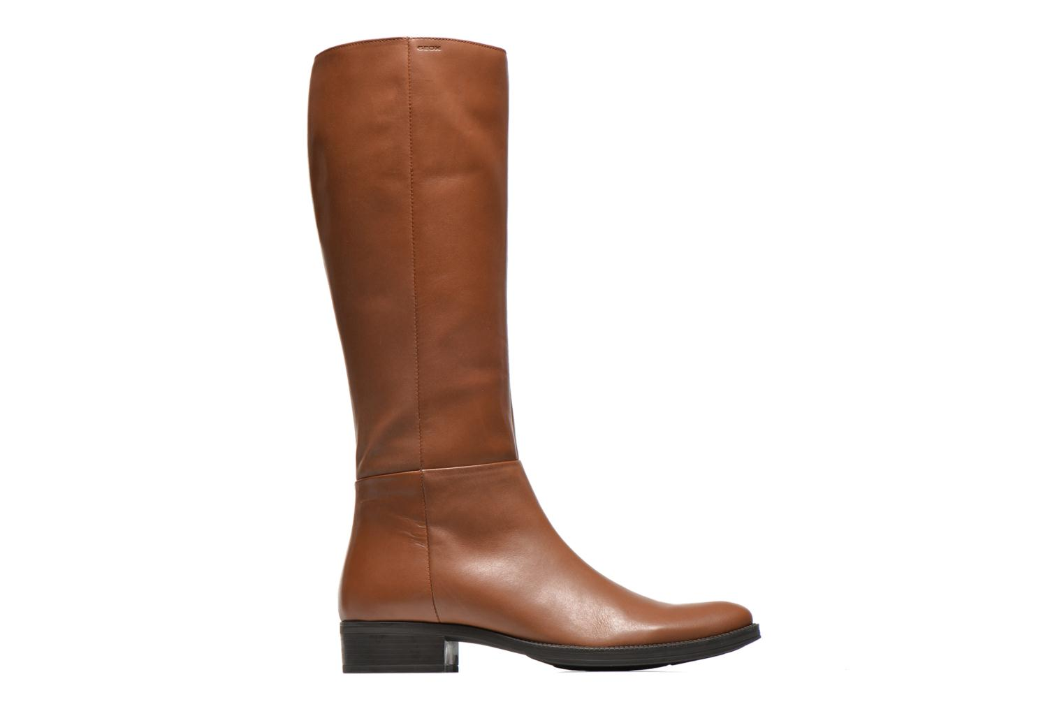 Boots & wellies Geox D MENDI ST P D3490P Brown back view