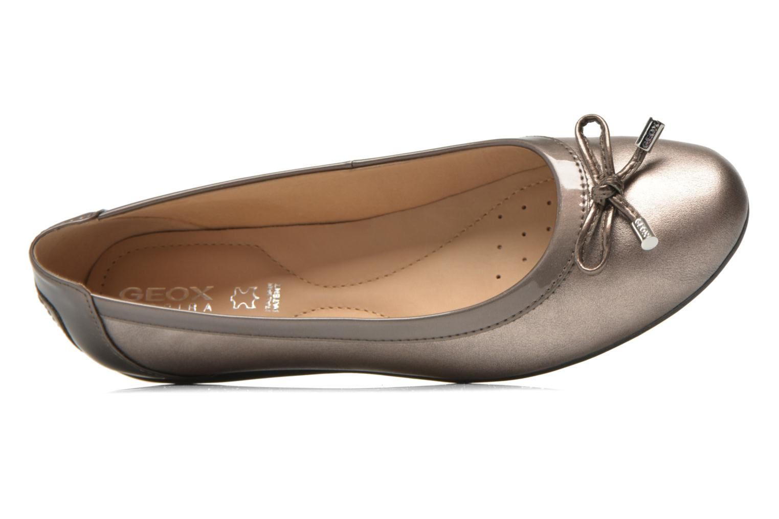 Ballet pumps Geox D PIUMA BAL H D34D8H Bronze and Gold view from the left