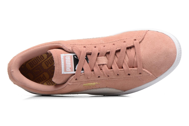 Sneaker Puma Suede Classic Wn's rosa ansicht von links