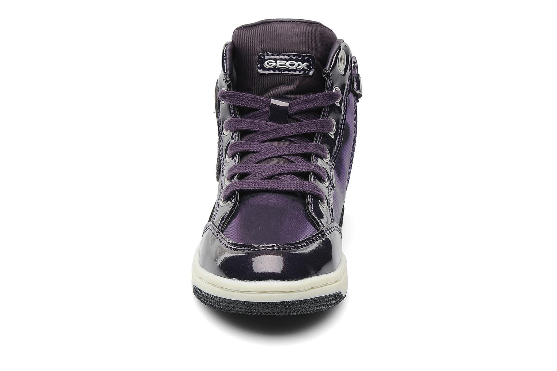 Baskets Geox J CREAMY A Violet vue portées chaussures