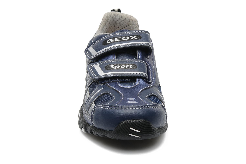 Baskets Geox J LTECLIPSE T Bleu vue portées chaussures