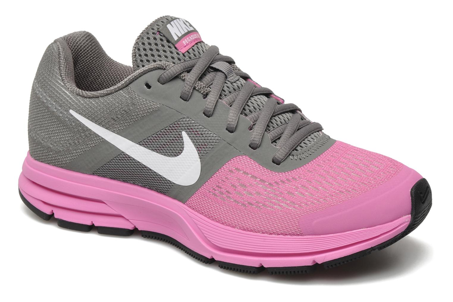 Wmns Air Pegasus+ 30 Med Base Grey/White-Red Violet